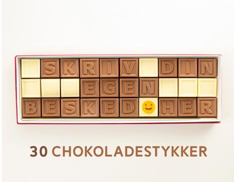 Personlig besked i chokolade